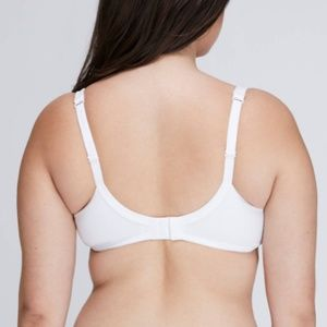 Cacique Intimates & Sleepwear - NWT Cacique White Cotton Boost Plunge Bra 44H